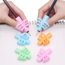 4 pcs Pen grips Writing Posture Corrector Two Fnger Silicone Pen Holder Student Children Learning Writing Tools Supplies Gifts