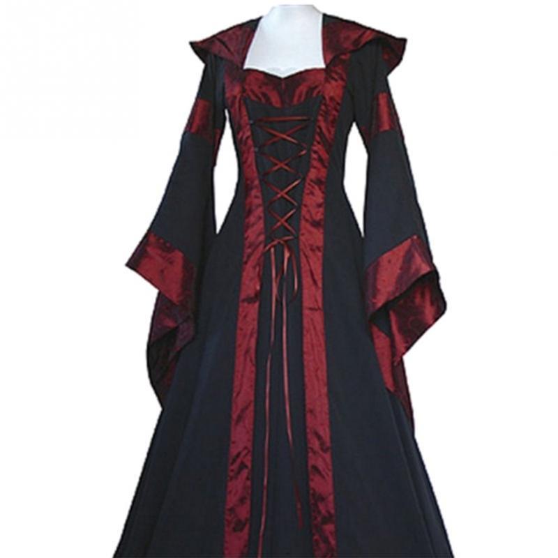 Renaissance Frauen Kostüm Medieval Maiden Phantasie Cosplay Über Kleid halloween kostüme für frauen Viktorianischen Kleid Kostüm NEUE
