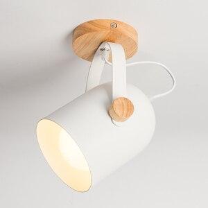 Image 2 - EL LED tavan ışık demir ahşap İskandinav Modern tavan lambası oturma odası yatak odası için dekorasyon fikstür koridor mutfak