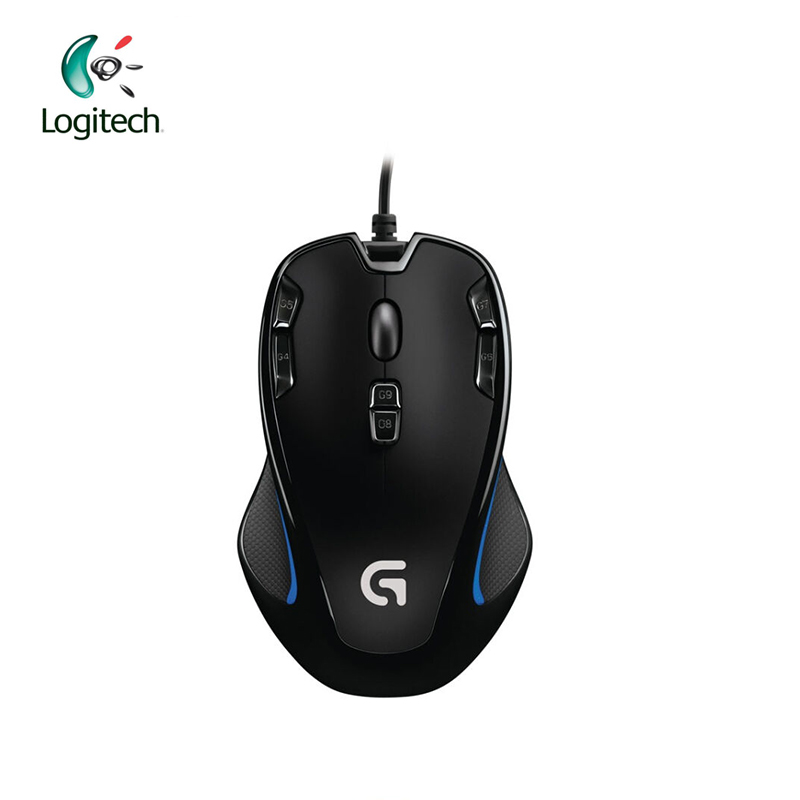 Logitech G300S Wired Gaming Mouse Laptop PC Gamer Mouse 2500DPI Optical 9 Rechargeable Programmable Button Support Official Test logitech m570 2 4g wireless gaming mouse optical trackball ergonomic mouse gamer for windows 10 8 7 mac os support official test