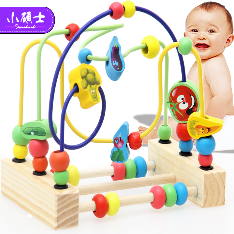 Wooden Math Toy Counting Circles Bead Abacus Wire Maze Roller Coaster Montessori Educational for Baby Kids-in Math Toys from Toys & Hobbies