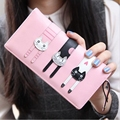 2016 New Fashion Envelope Women Wallet Cat Cartoon Wallet Long Creative Female Card Holder PU wallet coin purses Girls