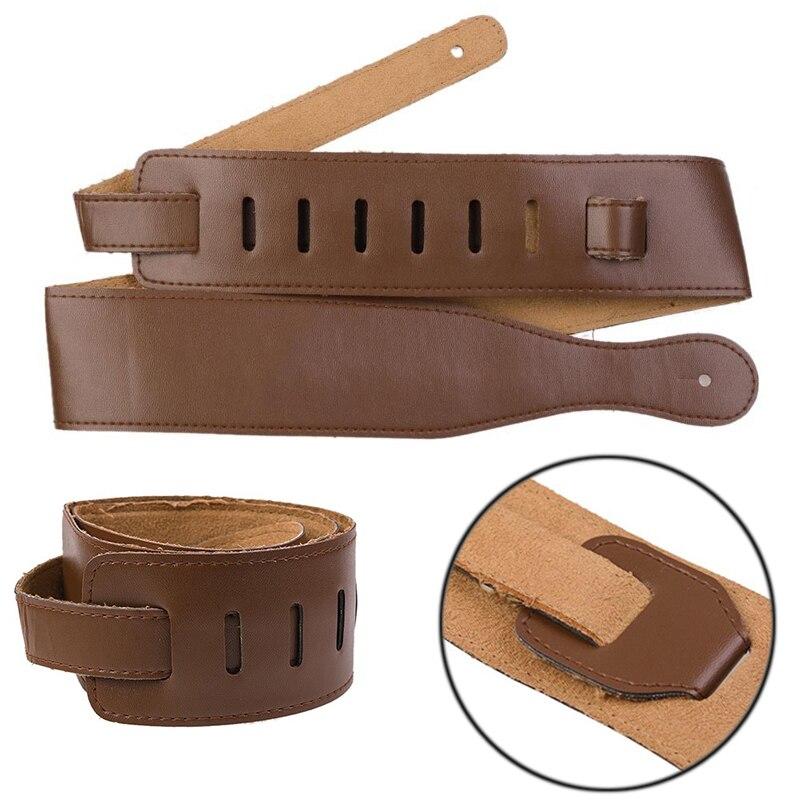 새로운 브라운 조절 소프트 PU 가죽 두꺼운 스트랩 - 악기