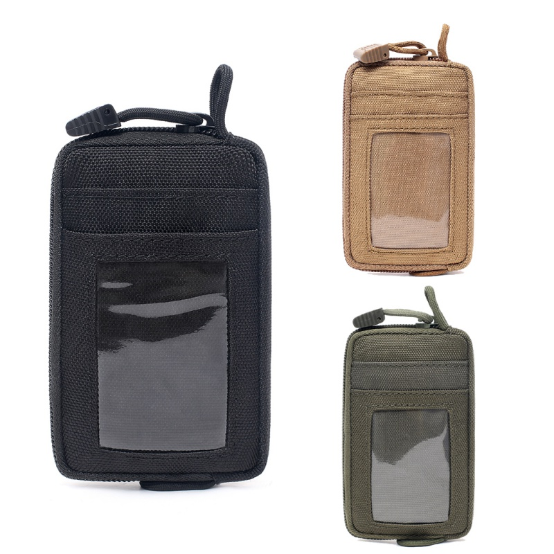 Waterproof EDC Pouch Portable Tactical Key Change Purse Wallet Travel Kit Coin Purse With Card Slots Pack Zippers Waist Bag
