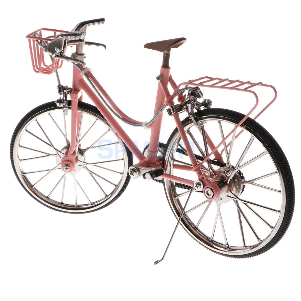 1:10 Scale Alloy Diecast Racing Bike w/Basket & Seat Model Replica Bicycle Cycling Toy Collection Pink replica legeartis sk7 6x15 5x112 d57 1 et47 w