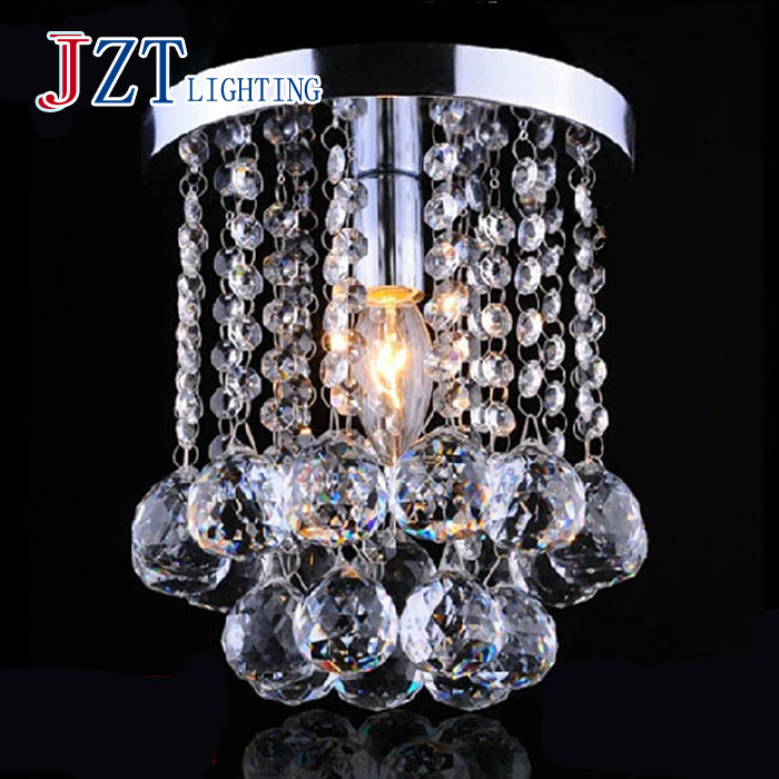 Z Best price Mini Modern Chandelier Rain Drop Lighting K9 Crystal Ball Fixture Pendant Ceiling Lamp 1 LED E12 Bulb Included k9 crystal chandelier 6 arms luminaire drop lighting fixturer glod color hanging chandelier cheaper price glass lamp