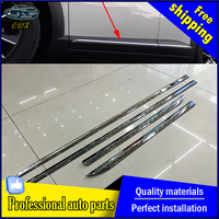 4pcs Set Car Styling Chrome Molding Door Body Strips For Mazda CX 3 2016 2017 Accessories