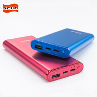 SCUD 10000mAh Power Bank Two way Quick Charge Type C Ports Portable External Battery Power Supply For Phones