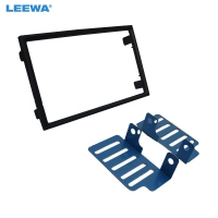 LEEWA 2Din Car CD DVD Radio Stereo Frame Panel Audio Navigation Frame Dash Fascia Kits For Proton Preve 2012 2017 #CA5235