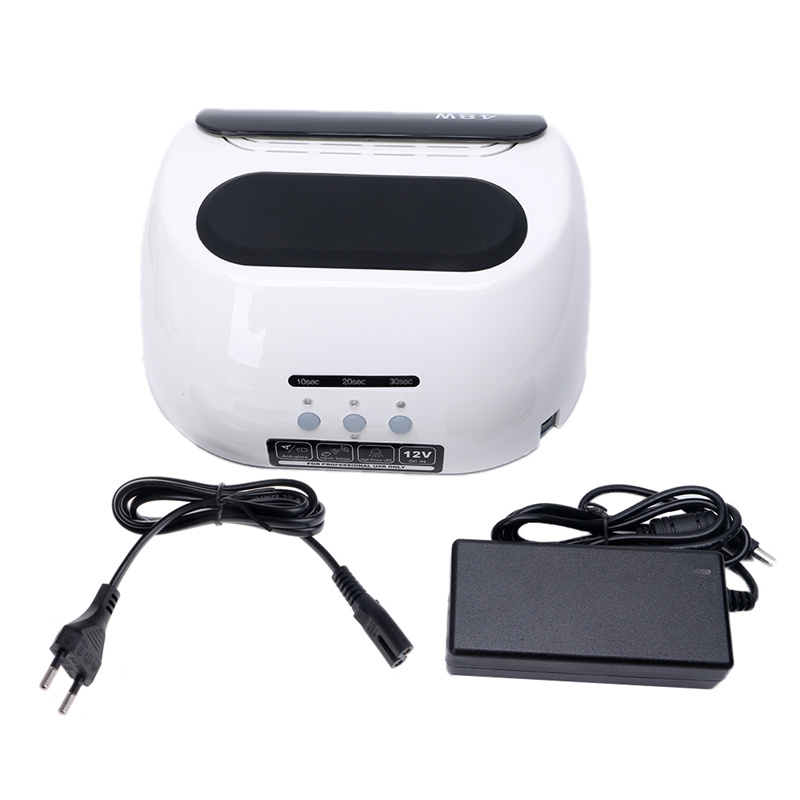 Professional 48W LED CCFL Nail Dryer Timer Curing Lamp Light UV Gel Nail Tools Polish US/EU Plug 24 48w smart sensor nail dryer uv lamp curing light nail art tools polish drying led eu us plug nail lamp light manicure
