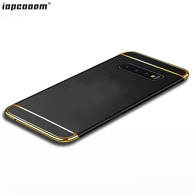 S10 Plsu Case For Samsung Galaxy S10 Shell S10E S10+ 3 in 1 PC Stitching Phone back Cover For Galaxy S10 Lite Coque
