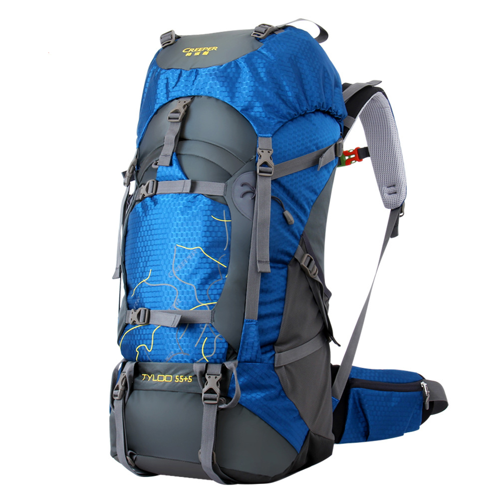 ФОТО 2016 New Men's professional large capacity Backpacks Waterproof Nylon Travel Bag Zipper Backpack Backpacker 60L