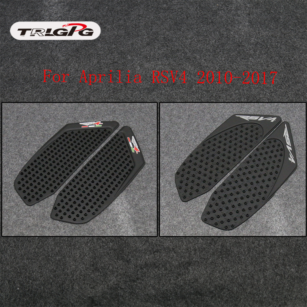 Motorcycle Tank Pad Protector Sticker Decal Gas Fuel Knee Grip Traction Side For Aprilia RSV4 2010 2011 2012 2013 2014 2015 2017