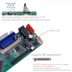 Image 4 - 5 OSD משחקים RR83.03D אוניברסלי LCD טלוויזיה בקר נהג לוח הטלוויזיה/AV/מחשב/HDMI/USB/משחק + 7KEY + 2ch 8bit 30 סיכות lvds + 4 מנורת ccfl חזרה
