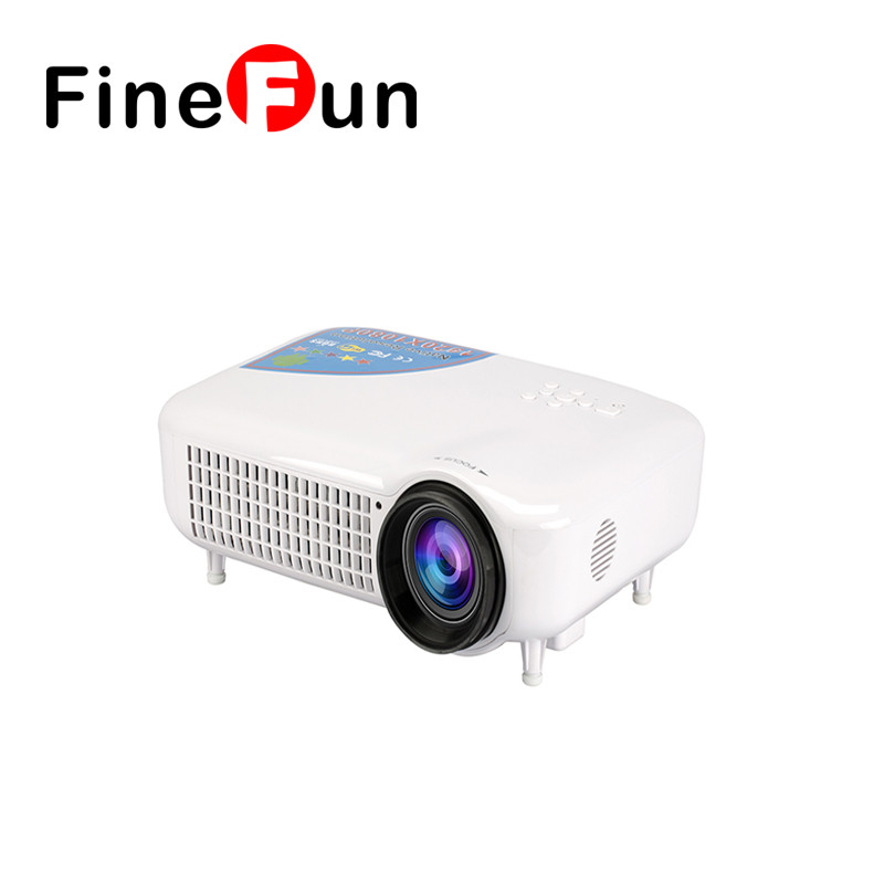 FineFun The New LED7018 Intelligent Projector Home office Wireless WIFI Android System 4K HD Projector Free Shipping #A1476