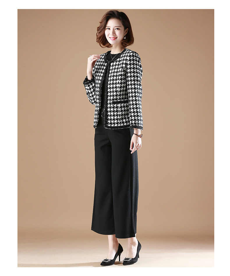 e5a9f7af9403 ... Winter Spring Vintage OL jacket Fashion Slim Elegant Tweed Plaid Wool Jacket  Plus Size Oversized Wool