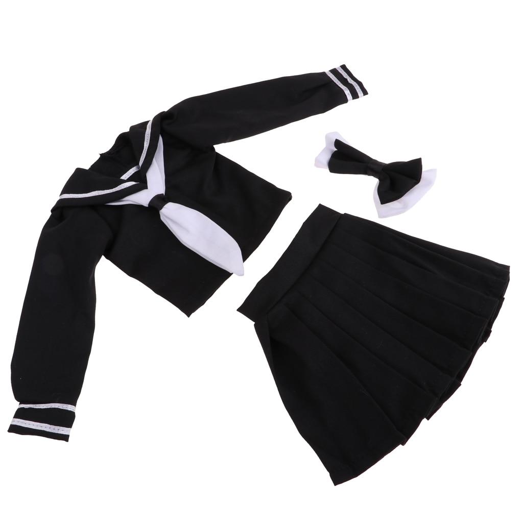 1/3 BJD Dress College Style Uniform Skirt For Night Lolita Girl Dolls Black For Little Girls Dolls Gift