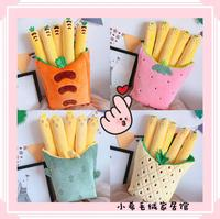 candice guo! cute plush toy lovely sweet pineapple strawberry carrot cactus chips soft cushion pillow creative birthday gift 1pc