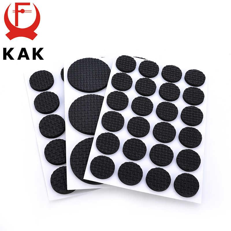 KAK 1-24 шт Самоклеющиеся мебельные ножки коврик для ног войлочные накладки Противоскользящие коврики бампер демпфер для стула стол протектор оборудования