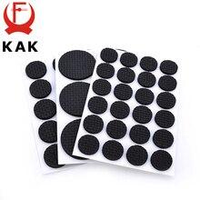 KAK 1-24 Uds Auto adhesivo muebles pierna alfombrilla para los pies almohadillas de fieltro alfombrilla antideslizante parachoques amortiguador para silla Mesa Protector Hardware