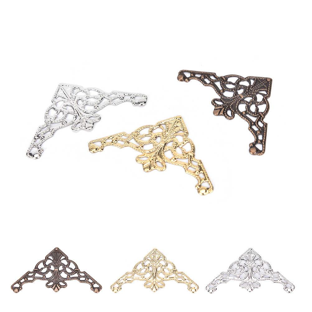 12 stuks Metalen Boek Scrapbook Album Hoek 31x31mm Zilver Goud Brons Voor Sieraden Geschenkdoos Decoratieve Protector cover