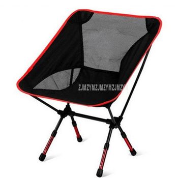 Outdoor Portable Seat Lightweight Fishing Beach Chair Portable Folding Camping Chair Stool Load Weight 150kg Height Adjustable