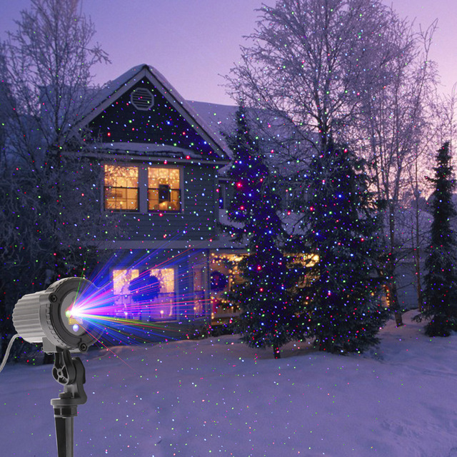2017 laser light outdoor high quality rgb still dots christmas lights party light projector tree decorations