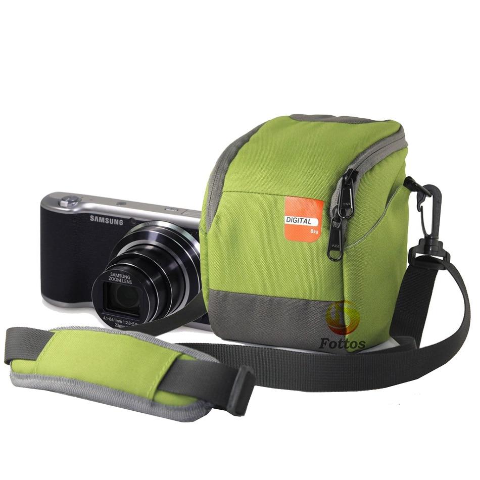 Digital Camera Bag Case for Samsung NX3300 NX3000 NX2000 NX1100 GC200 GC110 NX mini 9-27mm Lens With Strap+Rain cover