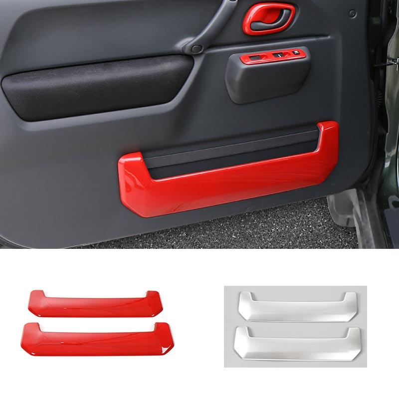 SHINEKA Car-styling Door Storage Box Cover Trim ABS Interior Decor Car-Covers Sticker For Suzuki Jimny 2007-2016 Car Accessories