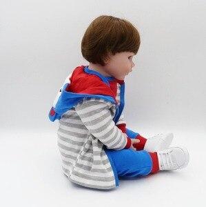 Image 5 - NPKCOLLECTION 48cm Silicone reborn doll baby boy doll reborn for children gift alive bonecas reborn de silicone  kids toy