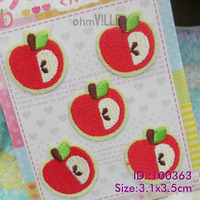 Apple Iron-On Patches Made of Embroidered