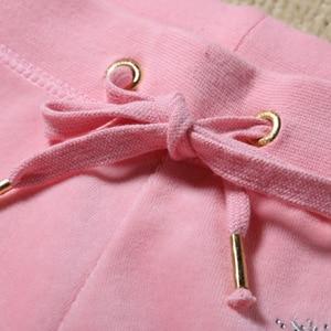 Image 4 - Moda rahat kadife kumaş kadın eşofman kadife takım elbise Hoodies Tops ve ter pantolon seti S XL