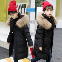 children winter clothes cold weather outfit snow suit long with fur collar on the hood 5 6 7 8 9 10 11 12 years Red, black, pink