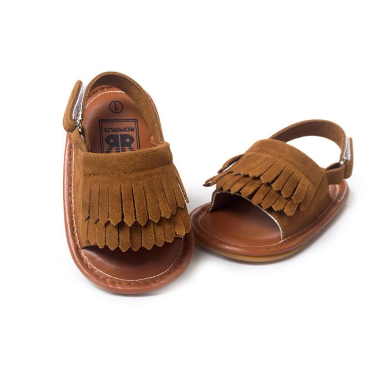 Baby Moccasins 2017 Baby Sandals Summer Leisure Fashion Baby Girls Sandals of Children PU Tassel Shoes