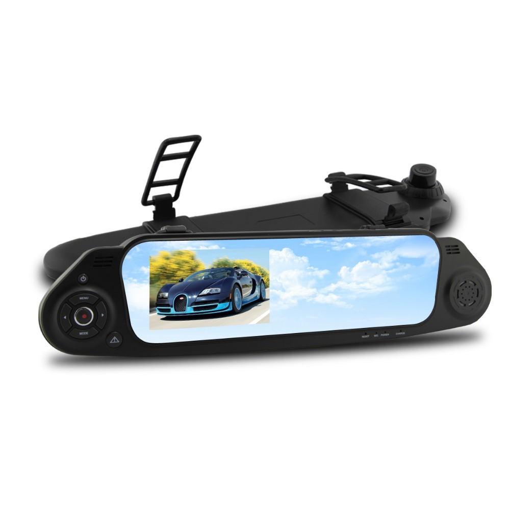 5000C Car Rearview Mirror Camera Recorder DVR 4.3 Inch LCD Full HD 1080p Retrovisor G-sensor Cycle Recording - DCam Electrical Factory store