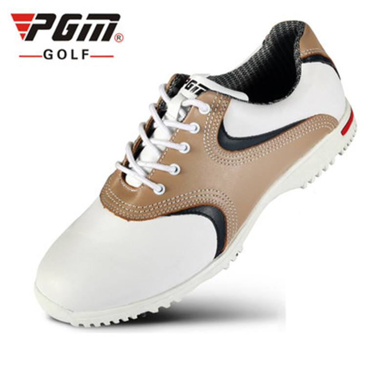 PGM genuine golf shoes men's sports shoes super soft head layer leather ultra-waterproof activities nail design XZ022 pgm men professional golf shoes male cowhide genuine leather non spikes ultra light super soft waterproof casual golf sneakers