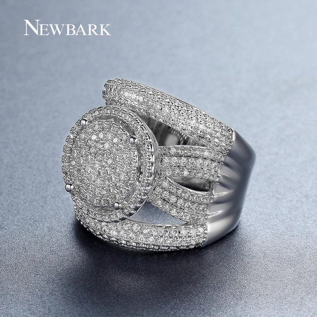 NEWBARK New Arrival Exquisite Unique Jewelry Ring Victoria Antique High Quality Silver Color Sun Round Design Ring for Lady
