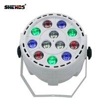 4 pcs lot LED Flat Par 12x3W Stage Light Effect RGBW DMX512 DJ Disco Lamp KTV