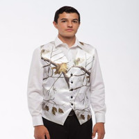 Custom Make Man S Vest Wedding Groom Wear Realtree Snow White Camo Formal Tuxedo Latest Design