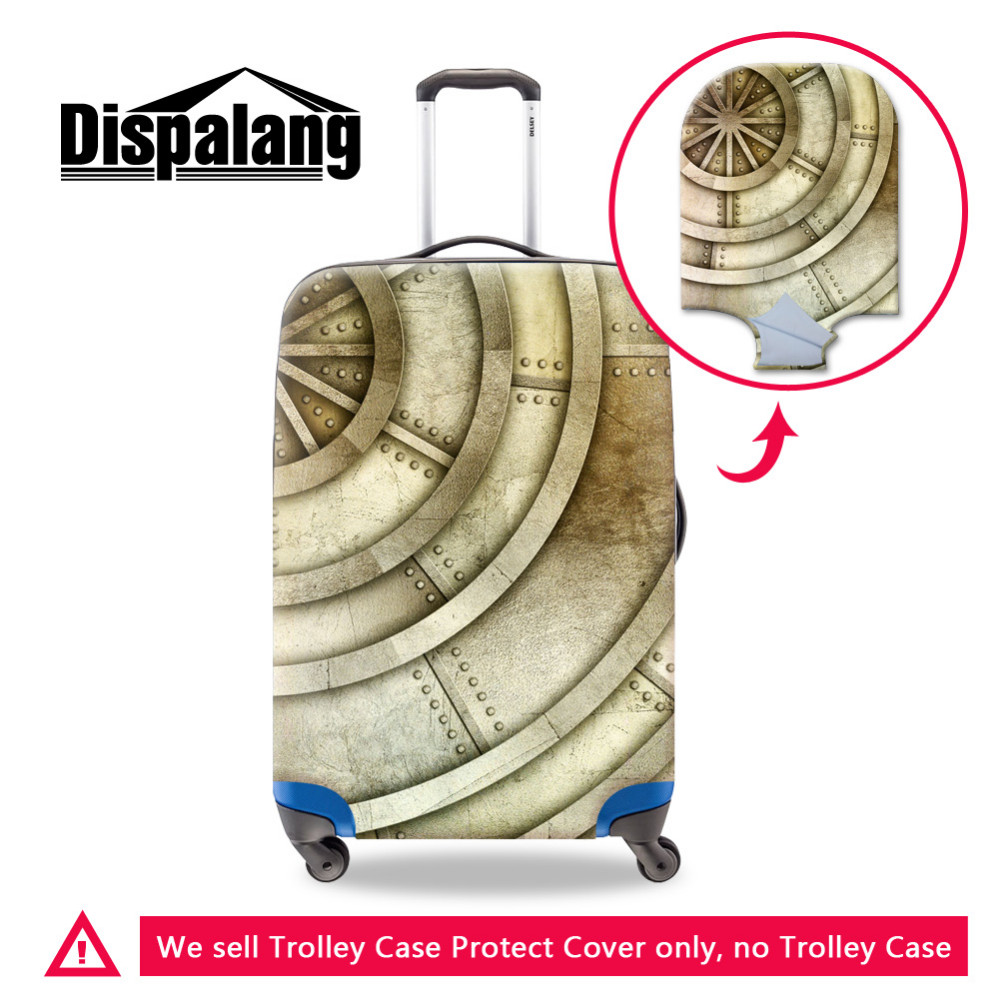 -metal pattern luggage protective cover (5) 18-32 inch Rain Cover Luggage Cover Wearable Suitcase Covers Wear Resistant Elastic Luggage Protective Cover, Travel Accessories