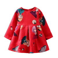 Cuikevin 2017 Newest Design Girls Flower Frocks Children Clothes Hot Dresses Baby Dresses Long Sleeve Baby