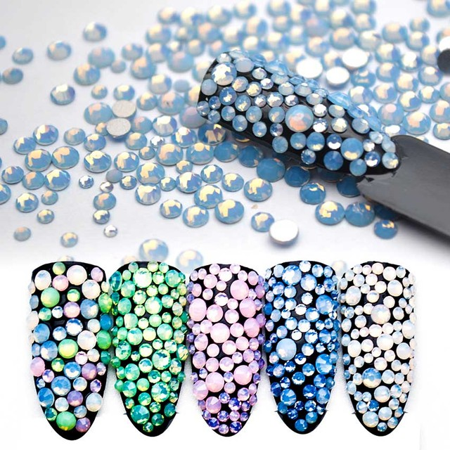 Aliexpress.com   Buy 1 Pack Crystals of Opal Rhinestones for Nails Mix Opal  for Nails Opal Glass 3D Nail Art Strass Ongle Decorations 4SMJZ1025 from ... 6ec9008cdd02