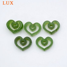 Lux резные нефритовый шпинат сердце любовь зеленый кулон бусины
