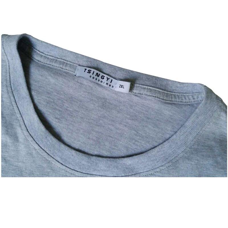 Tsingyi 5XL Summer Character Burn White Tiger T Shirt Men 100% Cotton O-Neck Short Sleeve Camiseta Tee Shirt Homme Asia Size 968