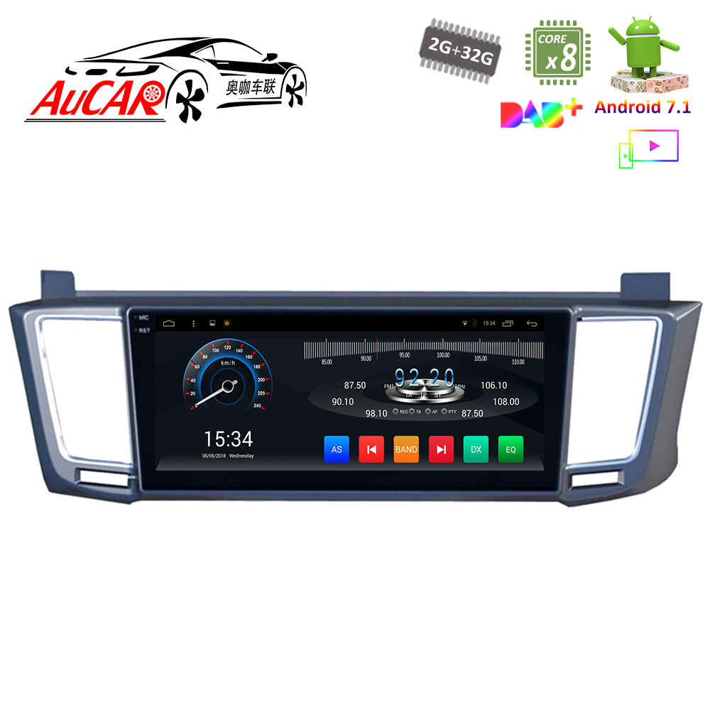 Android 7.1 10.25 Car multimedia for Toyota RAV4 2013 Car DVD Player wide screen 1024*600 Bluetooth GPS Radio WIFI 4G Stereo