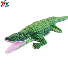 100cm(39.37inch) Big Size Simulation Green Crocodile Plush Toys Stuffed Animals Doll Kids Toy Cushion Pillow Toys Birthday Gifts big new simulation green