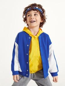 Image 2 - Balabala Kids Boys Contrasted Bomber Jacket Baseball Jacket Children Toddler Boys Spring Autumn Jacket Outwear Clothes Clothing