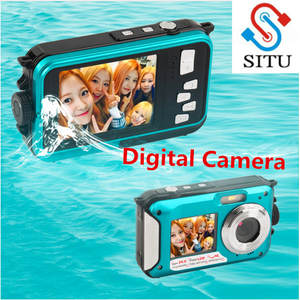 2.7 inch TFT Digital Camera Camcorder Waterproof 24MP MAX 1080 P Double Screen