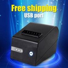 Freies verschiffen 80mm Thermobondrucker LAN Ethernet Auto-cutter Unterstützung barcode und mehrsprachige drucken POS-terminal
