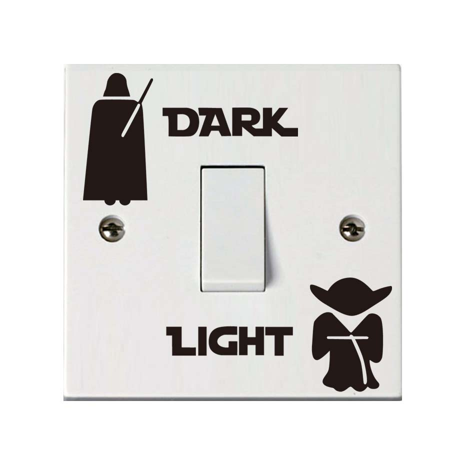 Star Wars Dark Light Side Light Ships Switch Vinyl Sticker Bedroom Removable